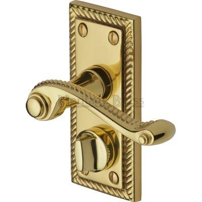 Heritage Brass Georgian Privacy Door Handles