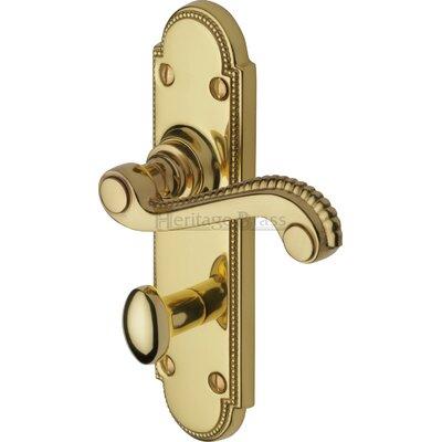 Heritage Brass Adam Bathroom Door Handle in Polished Brass