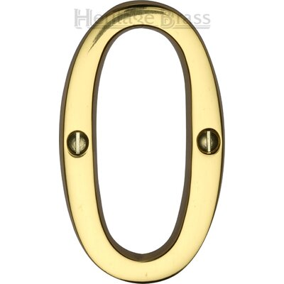 Heritage Brass Screw Fixing Numeral  Address Plate