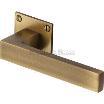 Heritage Brass Bauhaus Delta Square Rose Door Handle