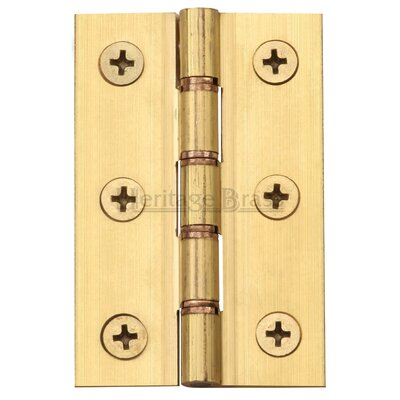 Heritage Brass Double Phosphor Washered and Screws Hinge