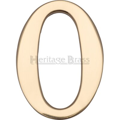 Heritage Brass Self Adhesive Numeral Address Plate
