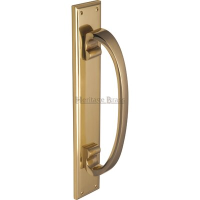 Heritage Brass Pull Handle on Plate