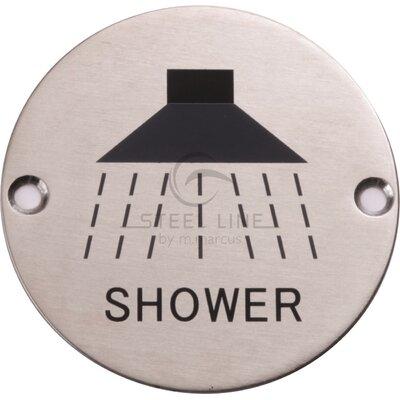 Heritage Brass Steel Line Shower Circular Symbol
