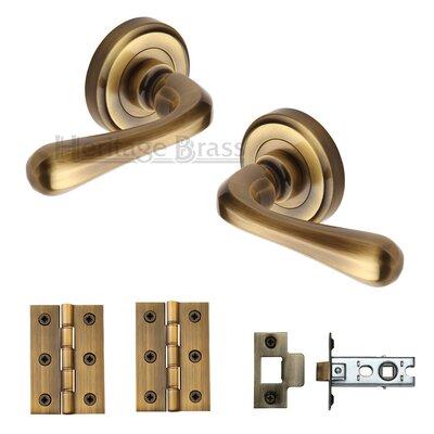 Heritage Brass Door Handle Kit