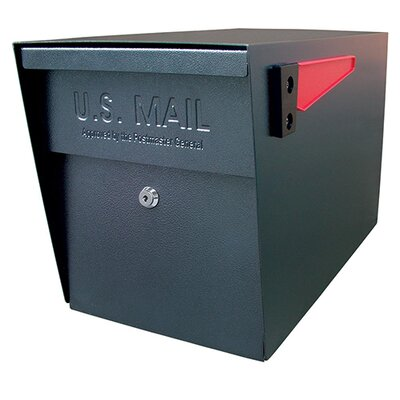 Locking Post Mounted Mailbox Mailbox Color: Black