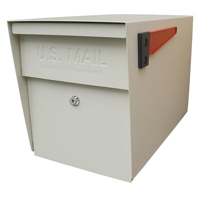 Locking Post Mounted Mailbox Mailbox Color: White