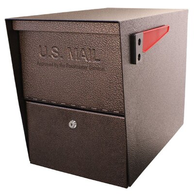 Package Master Locking Post Mounted Mailbox Color: Bronze