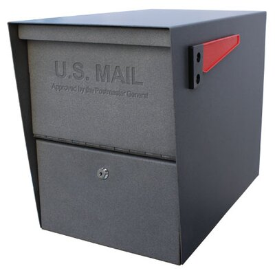 Package Master Locking Post Mounted Mailbox Color: Granite