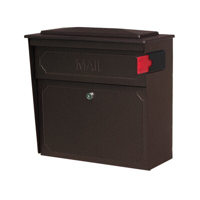 Townhouse Locking Wall Mounted Mailbox Mailbox Color: Bronze