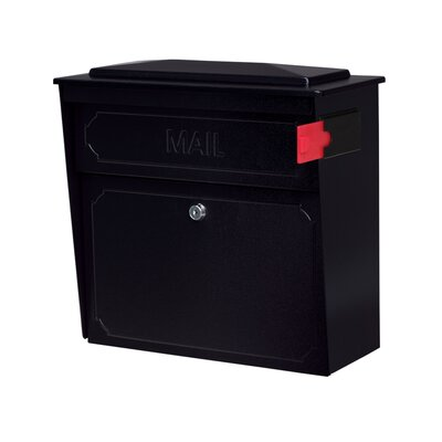 Townhouse Locking Wall Mounted Mailbox Mailbox Color: Black
