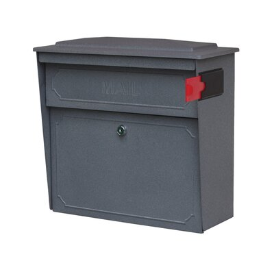 Townhouse Locking Wall Mounted Mailbox Mailbox Color: Granite