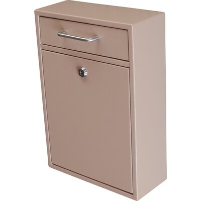 Locking Wall Mounted Mailbox Color: Tan