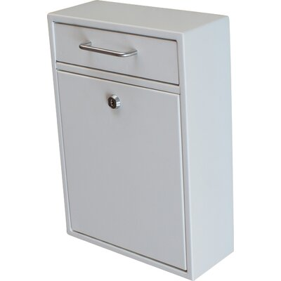 Locking Wall Mounted Mailbox Color: White