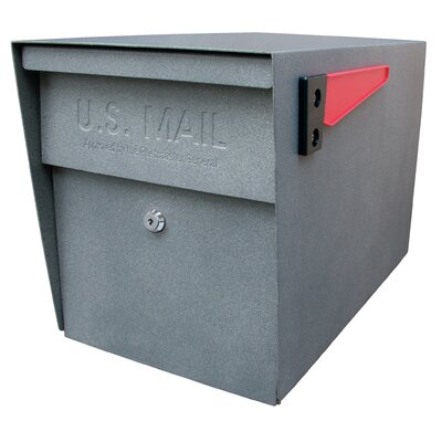 Locking Post Mounted Mailbox Mailbox Color: Granite