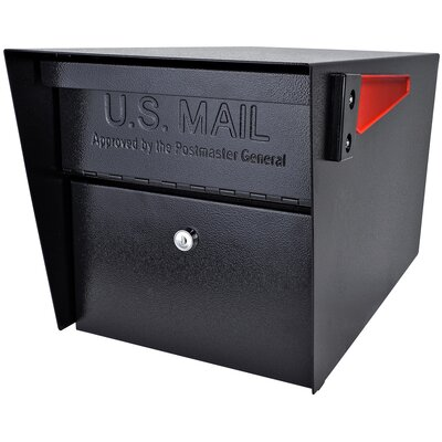 Mail Manager Locking Post Mounted Mailbox Mailbox Color: Black