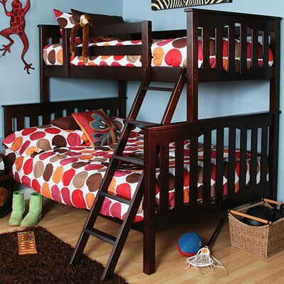 Seneca Twin over Full Bunk Bed Color: Coffee