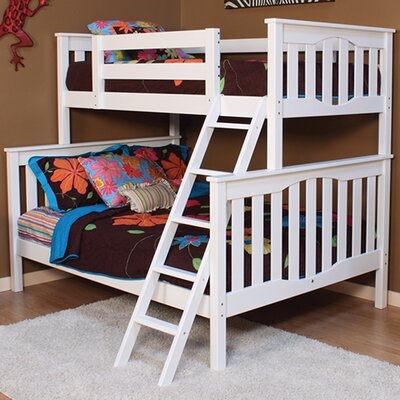 Seneca Twin over Full Bunk Bed Color: White