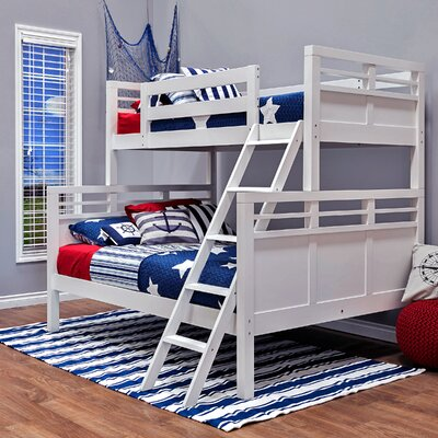 Quinn Twin Over Full Bunk Bed Color: White