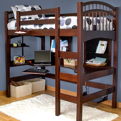 Mckenzie Loft Bed Color: Coffee
