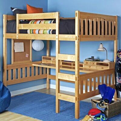Gabriel Full Loft Bed Color: Natural Beech, Media Cart: Without Media Cart