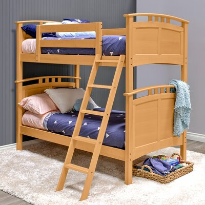 Astoria Twin over Twin Bunk Bed Color: Natural Birch