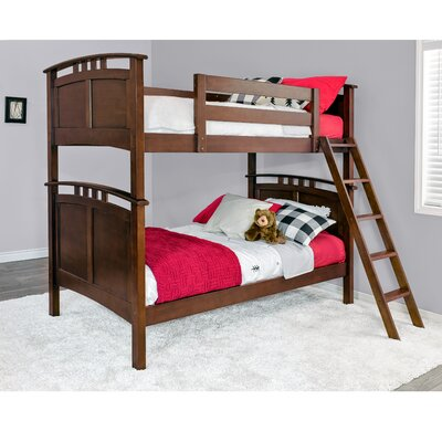 Astoria Twin over Twin Bunk Bed Color: Coffee