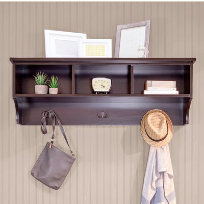 Brookwood Wall Mounted Coat Rack Color: Mahogany