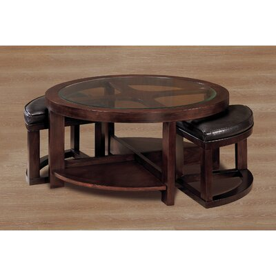 Woodhaven Hill 3219 Series Coffee Table with 2 Ottomans