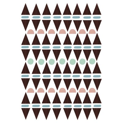 East End Prints Aztec Triangles Graphic Art