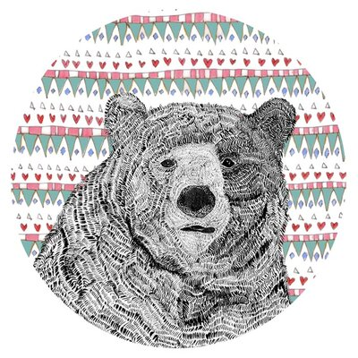East End Prints Bear Circle by Fred and Elsie Graphic Art