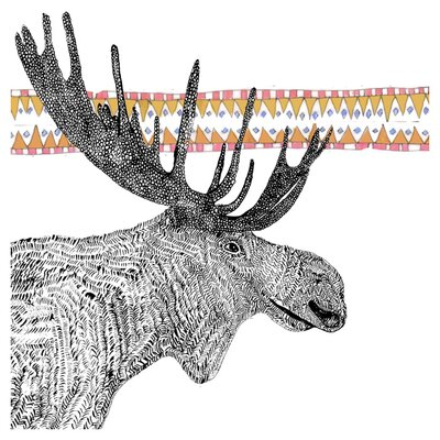 East End Prints Moose Art Print