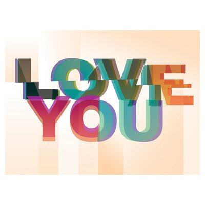 East End Prints Love You by Philip Sheffield Typography