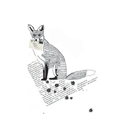 East End Prints Fox Trot by Dear Prudence Graphic Art