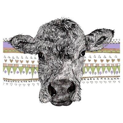 East End Prints Moo Cow Art Print