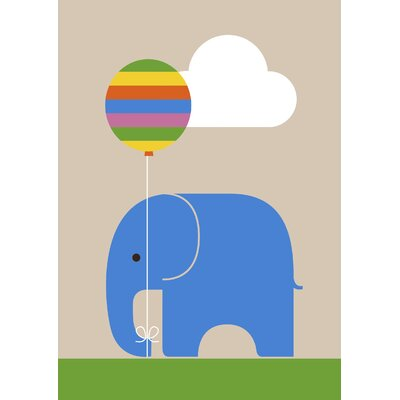 East End Prints Balloon Elephant by Dicky Bird Graphic Art