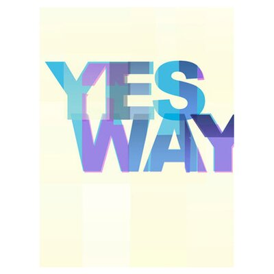 East End Prints Yes Way by Philip Sheffield Typography