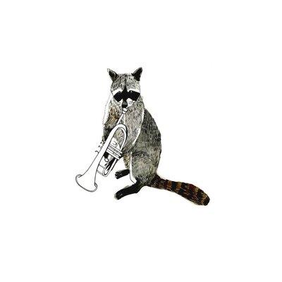 East End Prints Raccoon Graphic Art