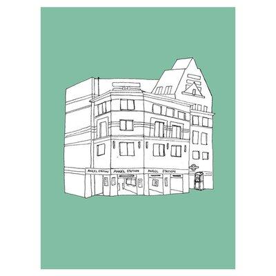East End Prints Angel Tube Station by Fiona Watson Wall Art