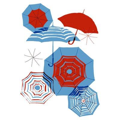 East End Prints Umbrellas by Francesca Iannaccone Graphic Art