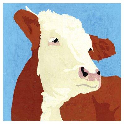 East End Prints Farm Cow by Andy Bridge Art Print