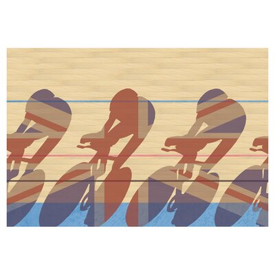 East End Prints Olympic Cycle Team by Fiona Watson Wall Art