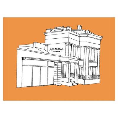 East End Prints Wandbild 'Almedia Theatre' Graphic Art