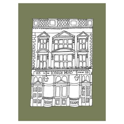 East End Prints Kings Head by Fiona Watson Wall Art