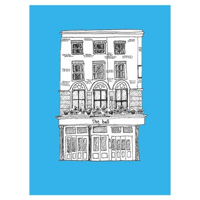 East End Prints The Bull by Fiona Watson Wall Art