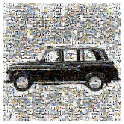 East End Prints Wandbild The Mystery of a Speeding Car by Nick Boyce Graphic Art