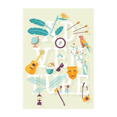 East End Prints 'Adventure Type' by Chris Wharton Graphic Art