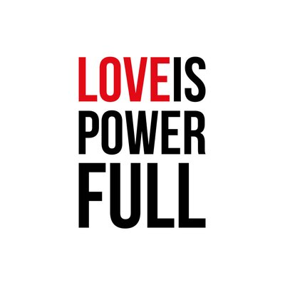 East End Prints 'Love is Power' Full by Coni Della Vedova Typography