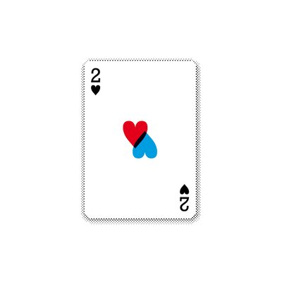 East End Prints '2 of Hearts' by Coni Della Vedova Graphic Art
