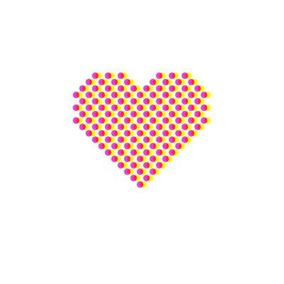 East End Prints 'Heart Dots' by Coni Della Vedova Graphic Art